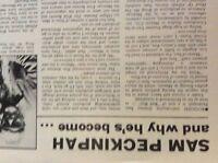 m9-9z ephemera 1970s film article sam peckinpah