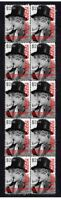 HARPO MARX COMEDY KINGS STRIP OF 10 MINT VIGNETTE STAMPS 1