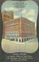 BPOE Elks Club Hotel and Cafe Omaha Nebraska Linen 1930s Postcard