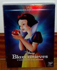 BLANCANIEVES Y LOS SIETE ENANITOS DVD CLASICO DISNEY Nº 1 NUEVO SLIPCOVER R2