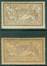 FRANCE : 1900. Yvert #120, 120d Both Very Fine, Mint Original Gum H. Cat €340.00