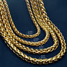 18K 18CT Gold Filled  Men's Weaved 60cm Lenght Heavy Chain Necklace N49