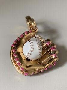 Juicy Couture Gold Baseball Glove Mitt Rare Charm
