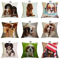 3D Dog Print Linen Pillow Case Sofa Bed Throw Cushion Cover Home Decor Eyeful