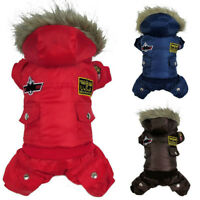 New Winter Pet Dog Cat Hoodie Down Jacket Puppy Warm Coat Jumpsuit Hoody Clothes