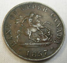 1857 BANK OF UPPER CANADA – ONE HALF PENNY Token