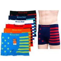 6 Men Seamless Boxer Briefs Knocker Microfiber Underwear Wholesale Onesize MS036