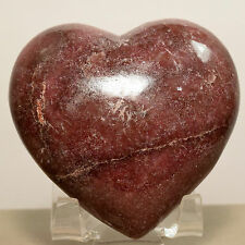 "2.5"" Rare Rich Pink Rhodonite Puffy Heart Natural Mineral Crystal Stone - China"