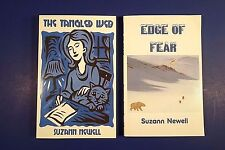 Lot (2) SUZANN NEWELL Softcover Novels: The Tangled Web; Edge of Fear
