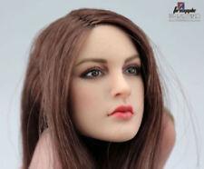 "KIMI TOYS 1/6 Female Head Sculpt Model Long Hair F 12"" Phicen Figure Body"