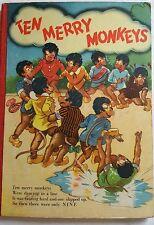 TEN MERRY MONKEYS,POLITICALLY INCORRECT RACIST KIDS BOOK 1950s *SUPERB PICS*