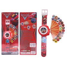 Disney Pixar Cars Figures 3DProjection Wrist Watch Kids Children Toys Gift Boxed