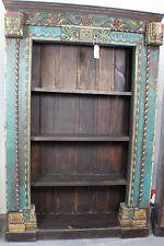 """91"""" T Bookcase Spectacular Antique Carved Frame Blue SLC UT Furniture Sale Event"""