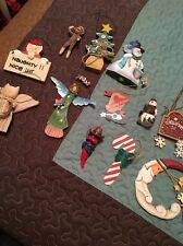 Vintage LOT of 12 Christmas Ornaments