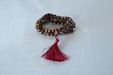 Tibetan Tiger Eye 108 Bead Long Necklace Cum Bracelet Lucky Feng Shui Amulet