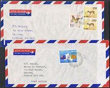 Sri Lanka. 1987/1988 2 covers. Australian Settlement/Butterflies/Mouse Deer