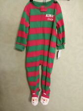 Nwt Carters Child of Mine 18 Month Baby Santa Christmas Footed Sleeper Pajamas
