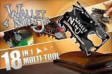 NEW 18 in 1 Wallet Ninja Credit Card Size Pocket Survival Multi-Tool knife
