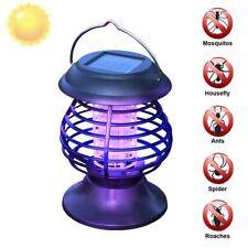 Solar Mosquito Killer Lamp UV Insect Repellent Waterproof Garden Patio LED Lamp