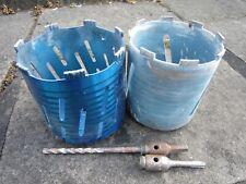Masonary hole cutters 2 off for sale