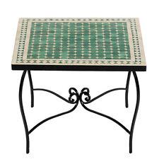 marokkanischer MOSAIKTISCH 60x60cm Couchtisch Orient Mosaik Tisch MAROKKO Mebo