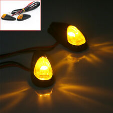 2x Motorcycle Turn Signal Indicator Light Amber LED Lamp Scooter Bobber Chopper