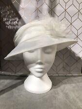 Vintage Ladies Occasion Hat Wedding Ascot Garden Party Ivory