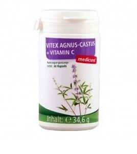 Vitex Agnus-Castus (Mönchspfeffer) + Vitamin C - a. 60 Kapseln (34,53€/100g)