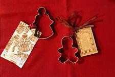 New listing 2 Christmas cookie cutters Bob Sieman angel w/ scripture & gigngerbread man