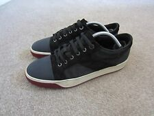 mens lanvin low top basket leather suede trainers/sneakers/shoes size euro7uk 8