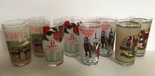 KENTUCKY DERBY GLASSES Set of 8 1985 - 1988 Two of Each Year
