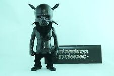 USUGROW REBEL INK PREMIUM BLACK CHROME FLOCK NYCC 2009 SECRET BASE SKULL PUSHEAD