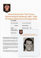 TED FARMER WOLVERHAMPTON WANDERERS 1960-1964 ORIGINAL SIGNED MAGAZINE CUTTING