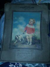 Vintage 1931 'we' life's greatest Adelaide Hiebel Litho Print complete Calendar