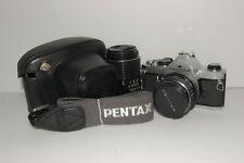 [N.MINT]Pentax MX Silver 35mm SLR Film Camera 50mm 1.4 135mm 3.5 From JAPAN #066