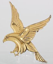 CRAFT BY CORA GOLD OVER STERLING SILVER EAGLE BROOCH FINE SIGNED 925 7100