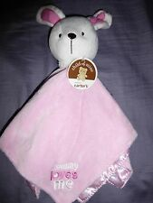 "NWT Carter's Just One You Pink Bear ""Mommy Loves Me"" SECURITY BLANKET/PLUSH/ TOY"