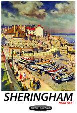 Sheringham British Railways Train Rail Travel  Poster Print