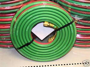 """Twin line 1/4"""" oxy/acetylene hose 25ft"""