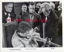 VINTAGE PHOTO 1963 BORIS KARLOFF Corridors Of Blood Creepy Knife Cutting EEK