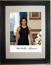 Michelle Obama First Lady Autograph Framed Photo Picture #f3