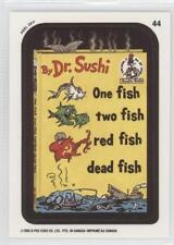 1992 O-Pee-Chee Wacky Packages 44.2 One Fish Two Red Dead (Coupon Back) Card 0y5