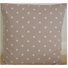 "26"" Cushion Cover Mushroom Brown White Polka Dot Dots Taupe Beige Dotty Spot"