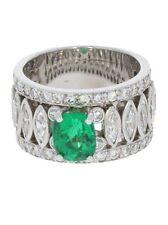 Handgefertigt Natürliche Echte Edelstein-Ringe mit Smaragd
