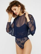 Free People Navy Mamy Jen Bodysuit by HAH-$148 MSRP