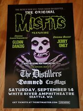 The Misfits - Seattle, Wa 09/14/2019 Venue Announcement Poster Rare Promo Only!