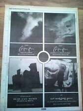 COCTEAU TWINS/ Dead Can Dance 1985 UK Poster size Press ADVERT 16x12 inches