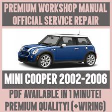 *WORKSHOP MANUAL SERVICE & REPAIR GUIDE for MINI COOPER 2002-2006 +WIRING