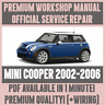 WORKSHOP MANUAL SERVICE & REPAIR GUIDE for MINI COOPER 2002-2006 +WIRING