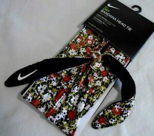 NWT Nike WOMENS DRY HEAD TIE Reversible GREEN CAMO Bandana SWEAT WICKING   86321